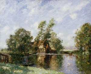 Thomas Edwin Mostyn - The Old Mill, Houghton, Cambridgeshire