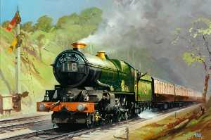 Leslie Carr - 'The Bristolian', Hauled by King Class 4–6–2 Locomotive in Twyford Cutting