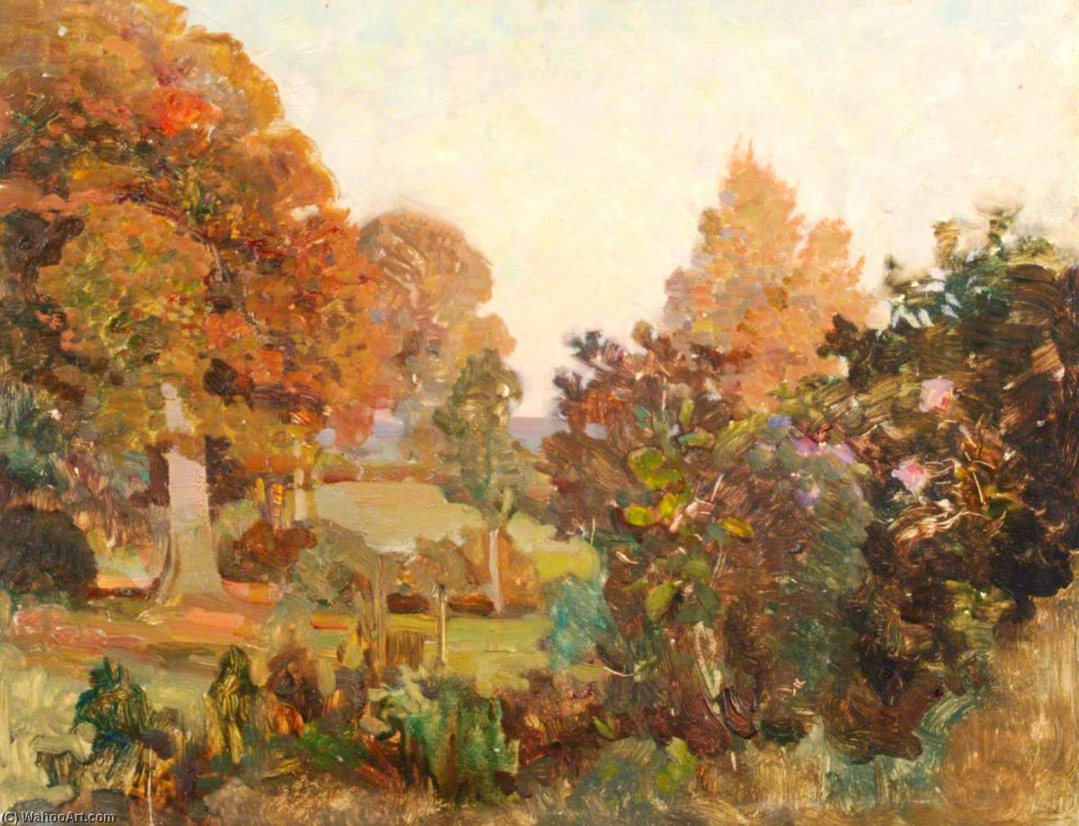 From the Fountain Garden, East Downe by Benjamin Haughton | Museum Quality Reproductions | WahooArt.com