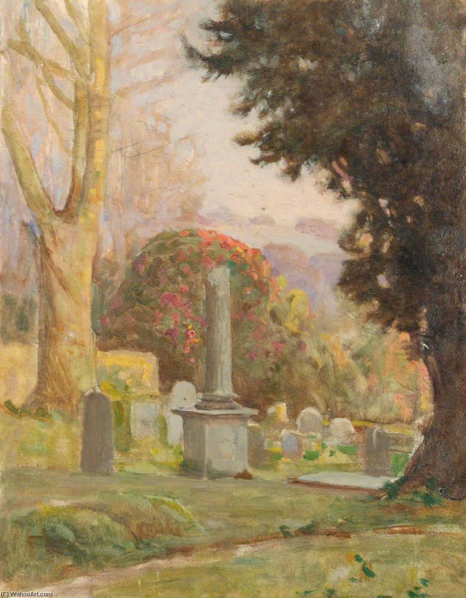 Churchyard, East Downe by Benjamin Haughton | Museum Quality Reproductions | WahooArt.com