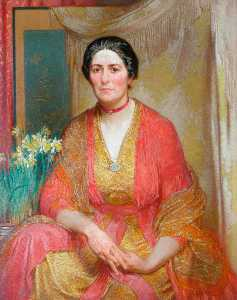 William Shackleton - Portrait of the Artist-s Wife