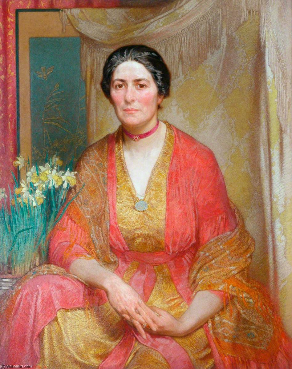 Portrait of the Artist`s Wife, 1918 by William Shackleton | Art Reproductions William Shackleton | WahooArt.com
