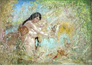 William Shackleton - Fairy Woodland Scene