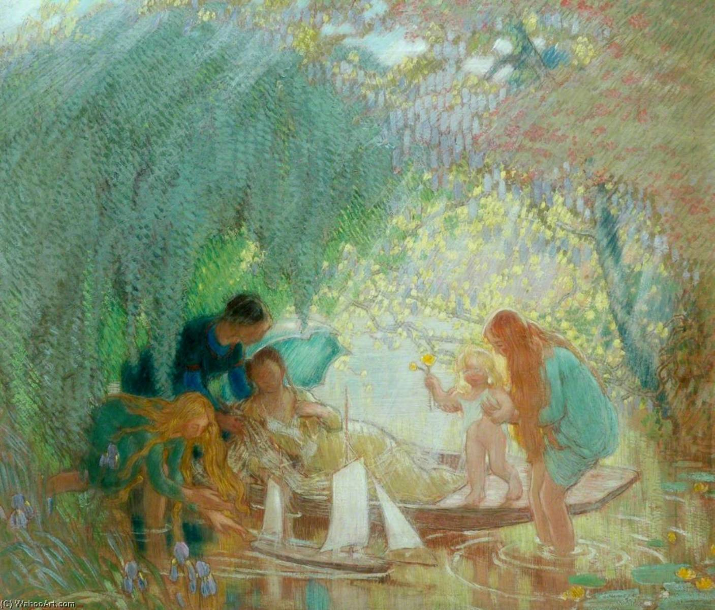The Days of Childhood, 1925 by William Shackleton | Art Reproductions William Shackleton | WahooArt.com