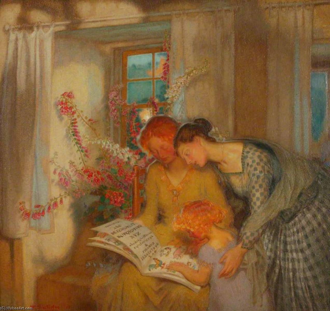 Bed Time, 1925 by William Shackleton | Paintings Reproductions William Shackleton | WahooArt.com