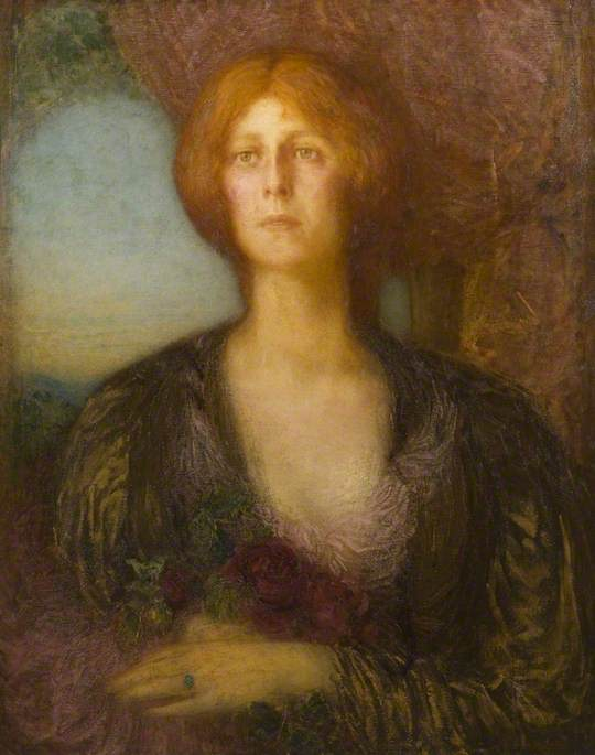 Portrait of a Lady by William Shackleton | Reproductions William Shackleton | WahooArt.com