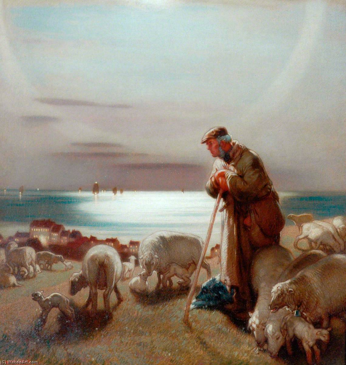 The Shepherd by William Shackleton | Art Reproductions William Shackleton | WahooArt.com