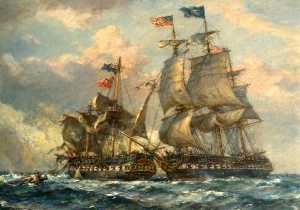 Bernard Finnigan Gribble - An Engagement between British and American Ships