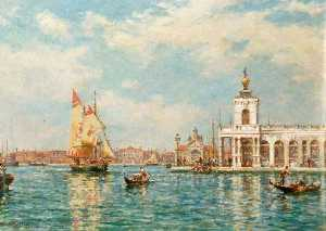 Bernard Finnigan Gribble - Old Custom House, Venice, Italy