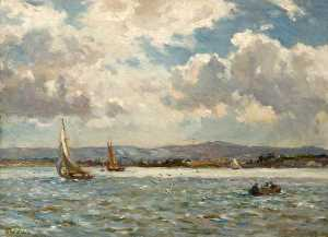 Bernard Finnigan Gribble - The Purbecks from Poole Harbour, Dorset