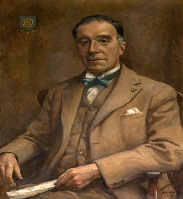 Victor Hawkes (1885–1948), Secretary of Poole Rotary Club (1927–1948), 1948 by Bernard Finnigan Gribble | Famous Paintings Reproductions | WahooArt.com