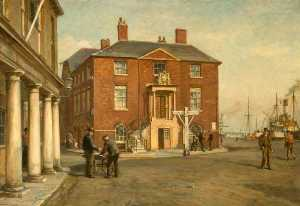 Bernard Finnigan Gribble - The Old Custom House at Poole, Dorset