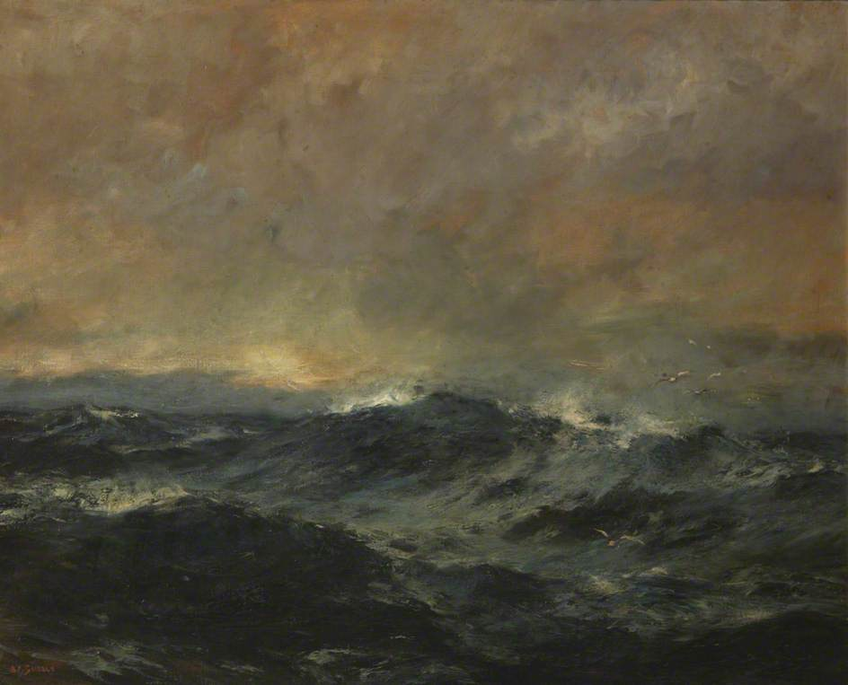Early Morning, Irish Sea by Bernard Finnigan Gribble | Famous Paintings Reproductions | WahooArt.com