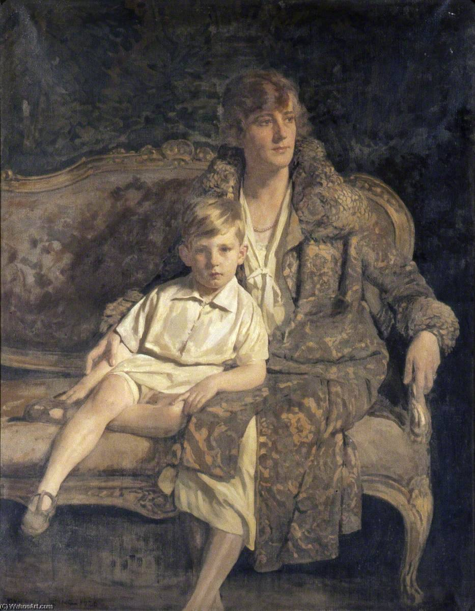 Mrs Hodges and Her Son, 1921 by Gunning King | Museum Quality Reproductions | WahooArt.com
