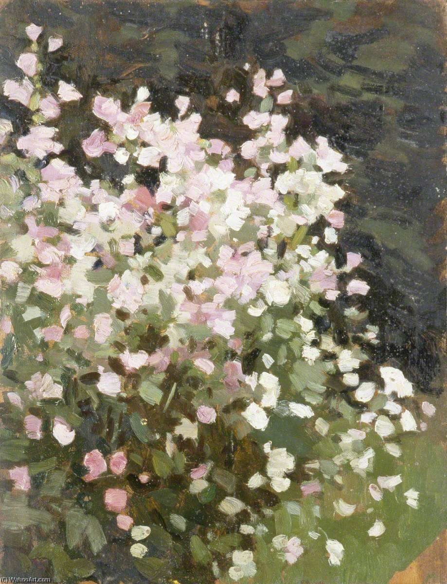 Pink Flowers, 1930 by Gunning King | Famous Paintings Reproductions | WahooArt.com