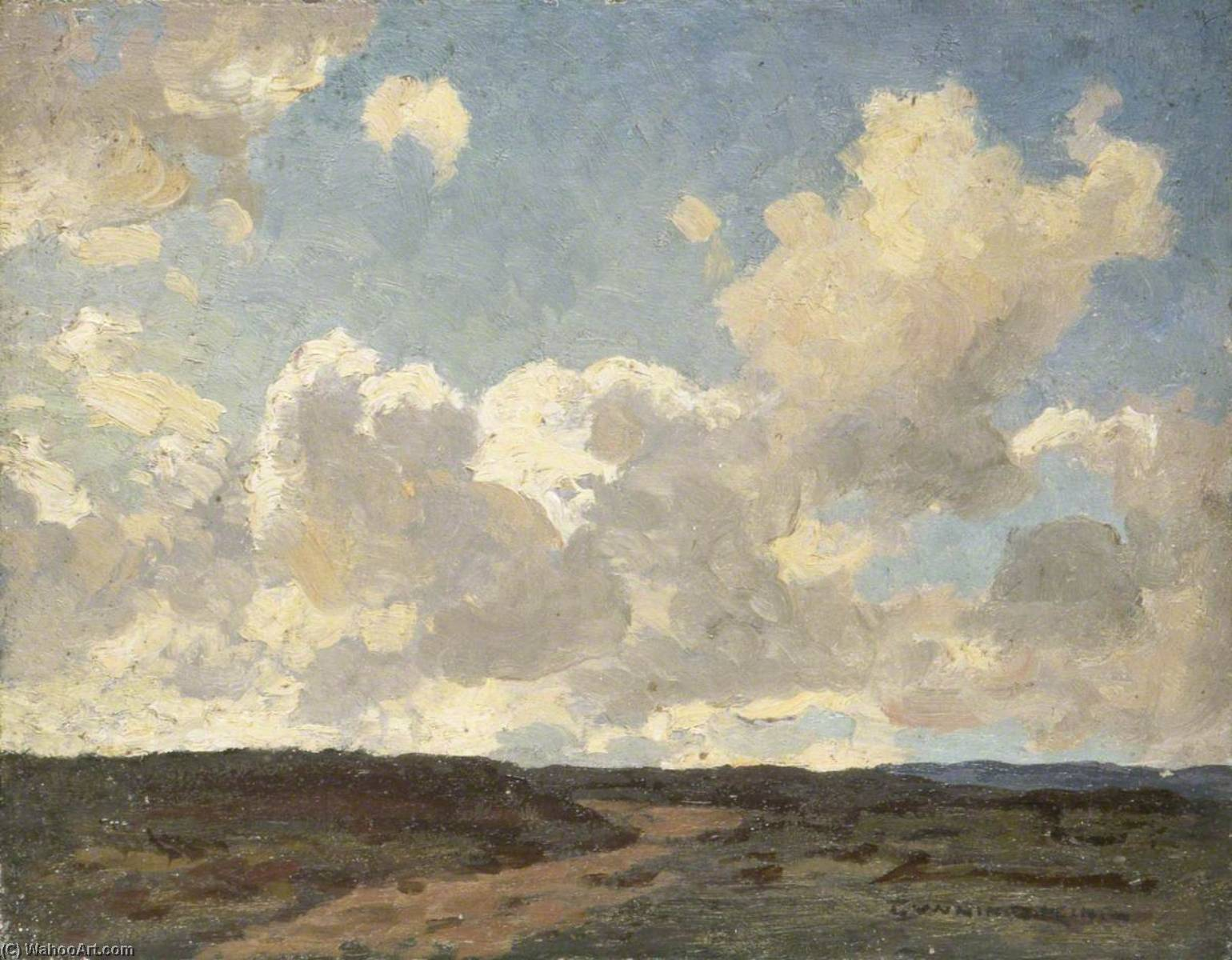 Landscape with Large Cloudy Sky, 1930 by Gunning King | Museum Quality Reproductions | WahooArt.com