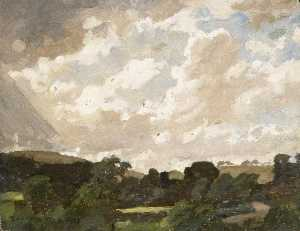 Gunning King - Landscape with Cloudy Sky