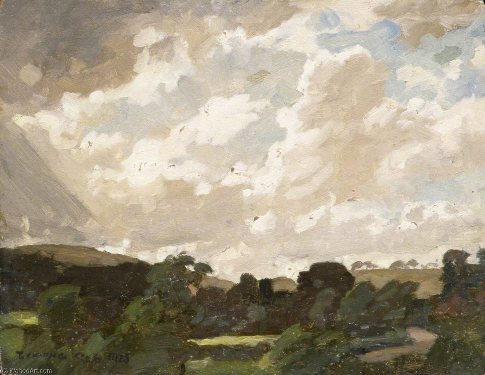 Landscape with Cloudy Sky, Oil by Gunning King