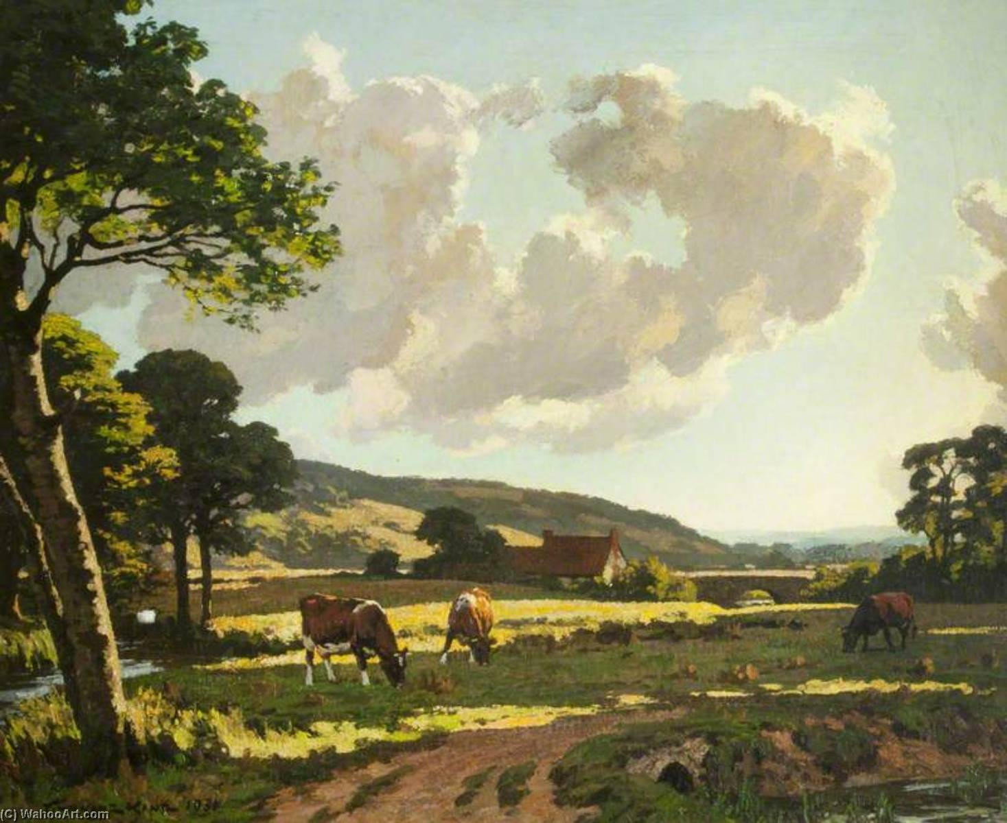 Hampshire Meads, Oil On Canvas by Gunning King