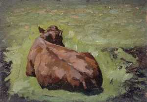 Gunning King - Cow Lying in the Grass
