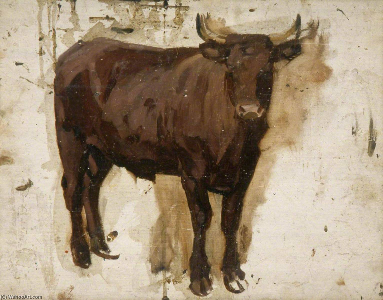 Brown Bullock, 1930 by Gunning King | Museum Quality Reproductions | WahooArt.com