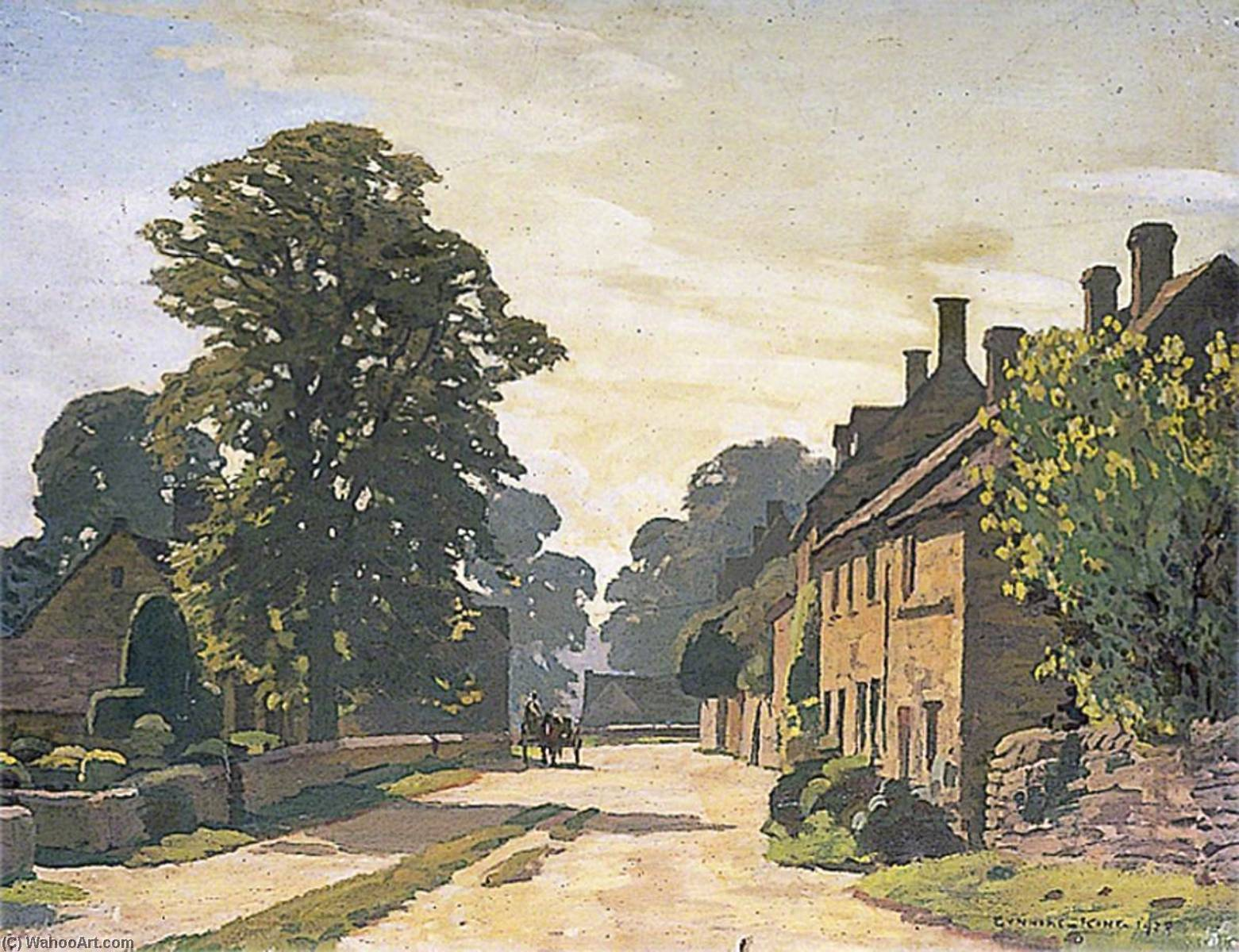 Gloucestershire Village (I), Oil On Canvas by Gunning King