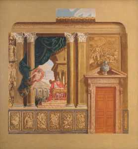 William Herbert Hampton - The King-s Grand Stairs, South Wall, Hampton Court Palace (after Antonio Verrio)