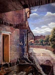 Order Reproductions | View of North Bastion, Tower of London, 1941 by William Herbert Hampton | WahooArt.com