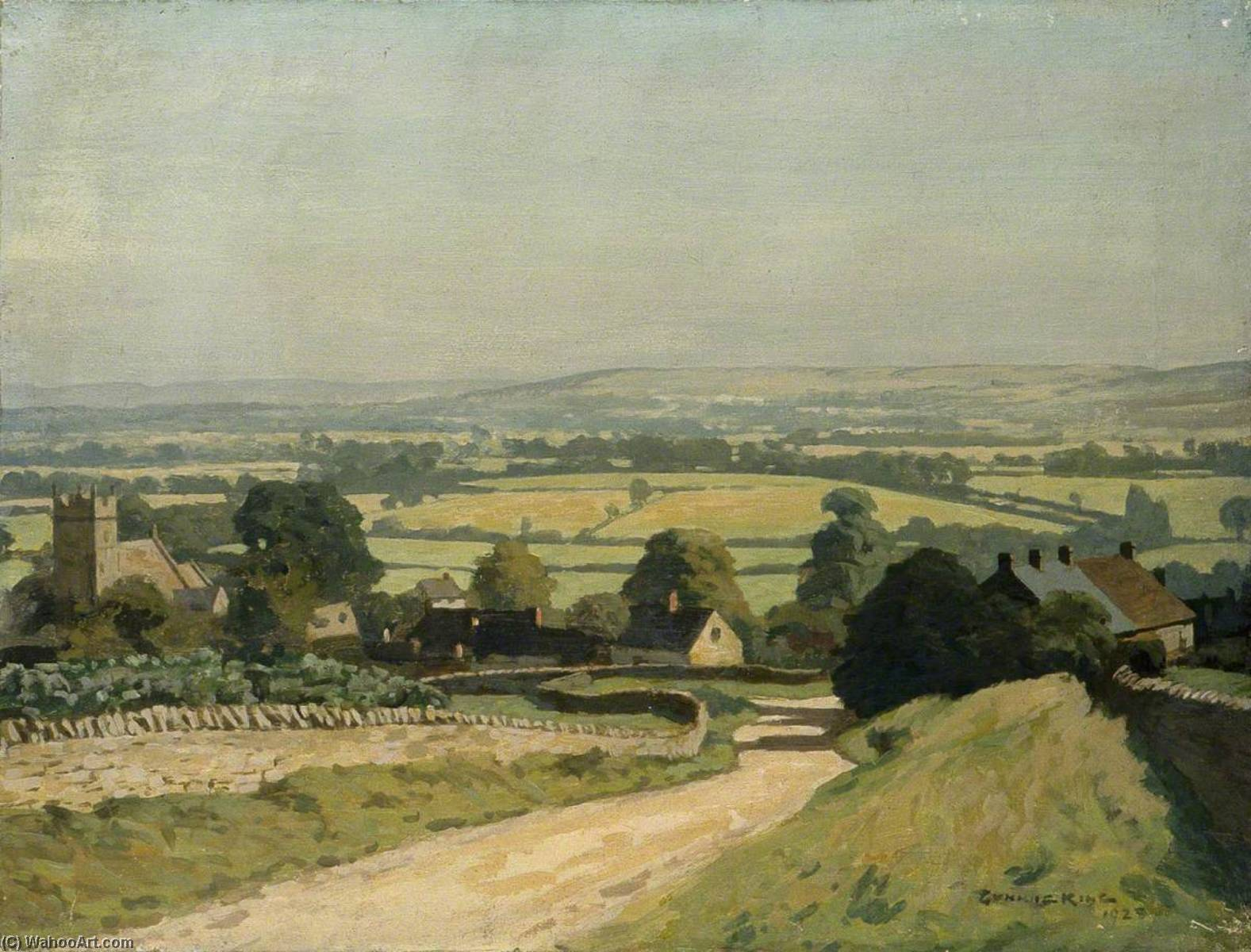Cotswold Country (II), 1928 by Gunning King | Famous Paintings Reproductions | WahooArt.com