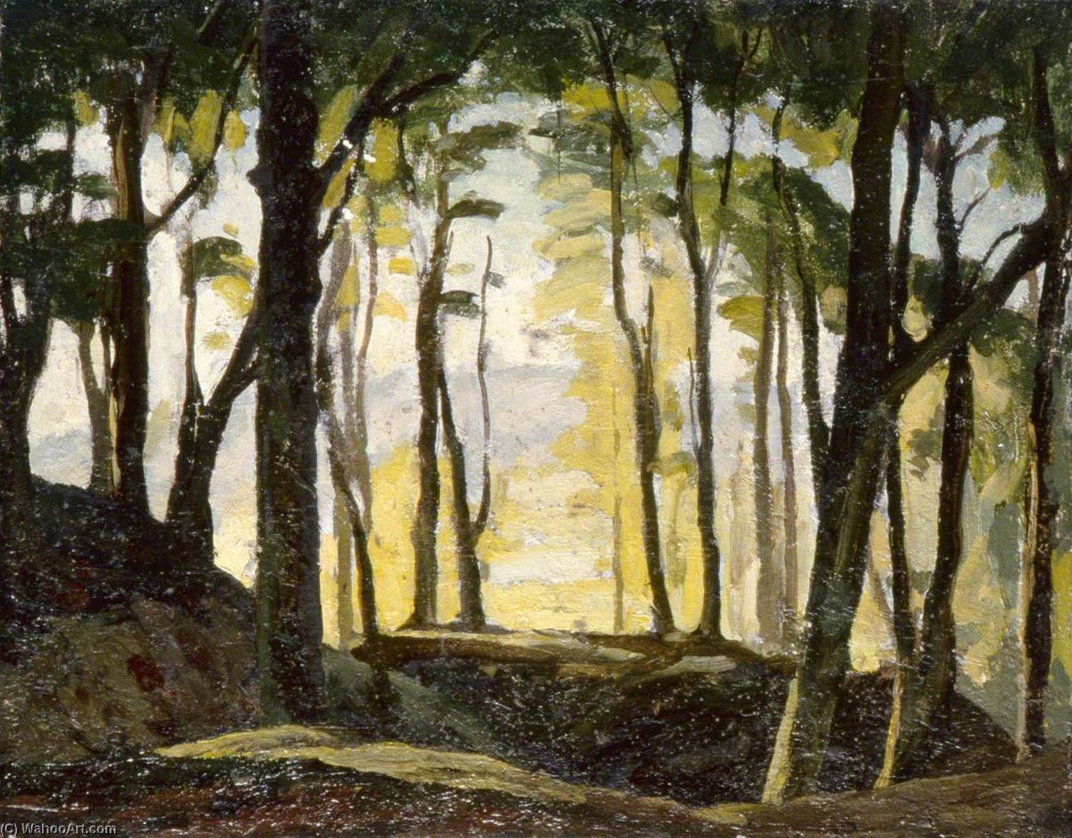 Woodland Landscape, 1930 by Gunning King | Art Reproduction | WahooArt.com