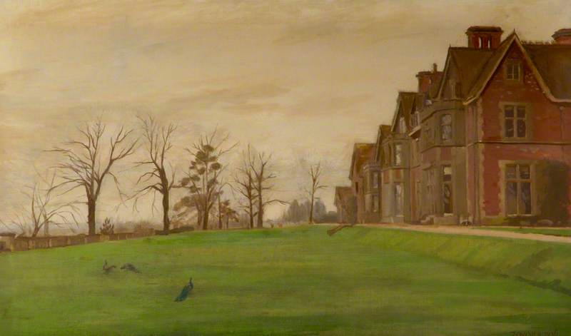 Victorian Hinton Ampner, Oil On Canvas by Donald Chisholm Towner