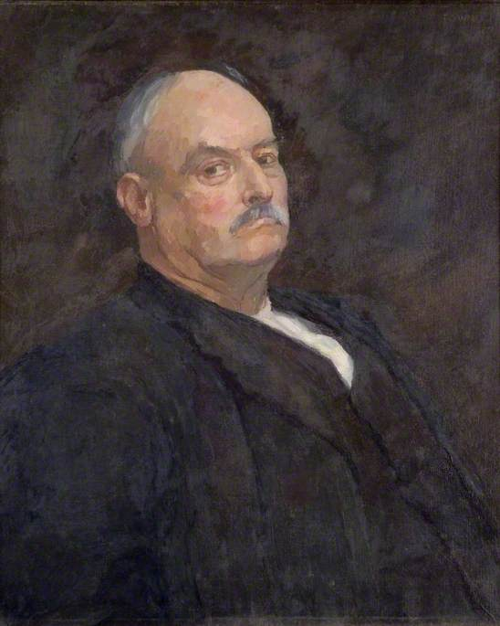 C. Conroy (Old Iron Portrait Collection), Oil On Canvas by Donald Chisholm Towner