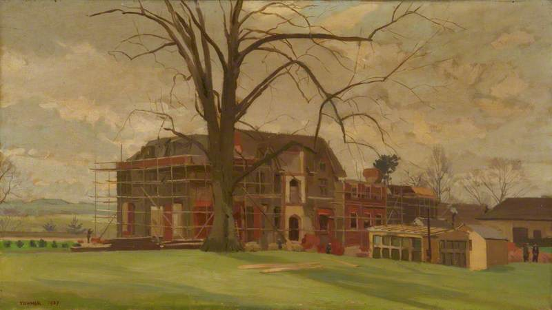 New Hinton Ampner, Oil On Canvas by Donald Chisholm Towner