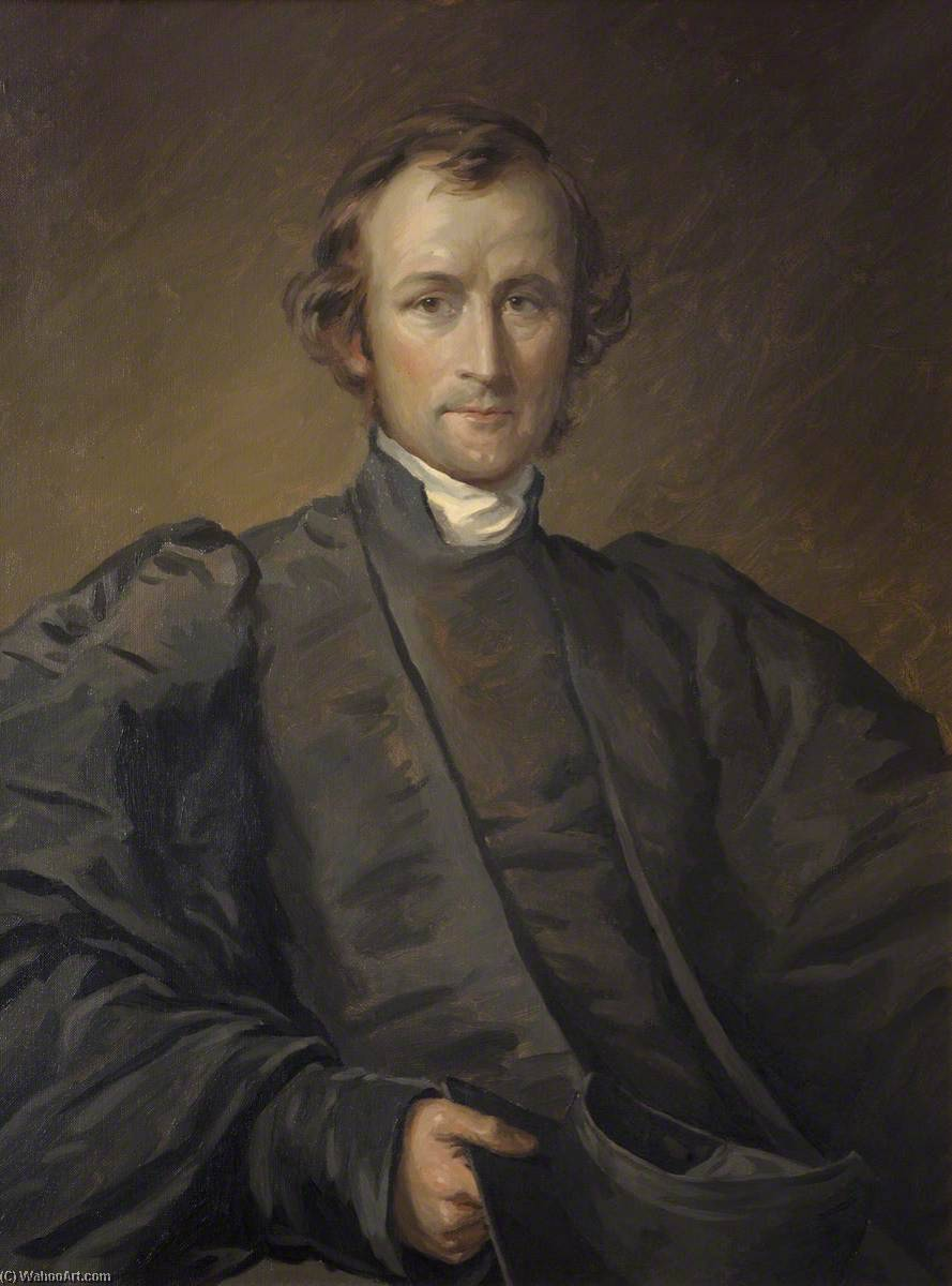 George Augustus Selwyn (1809–1878), Primate of New Zealand and Bishop of Lichfield, Scholar of St John's College (copy of George Richmond), Oil On Canvas by Donald Chisholm Towner