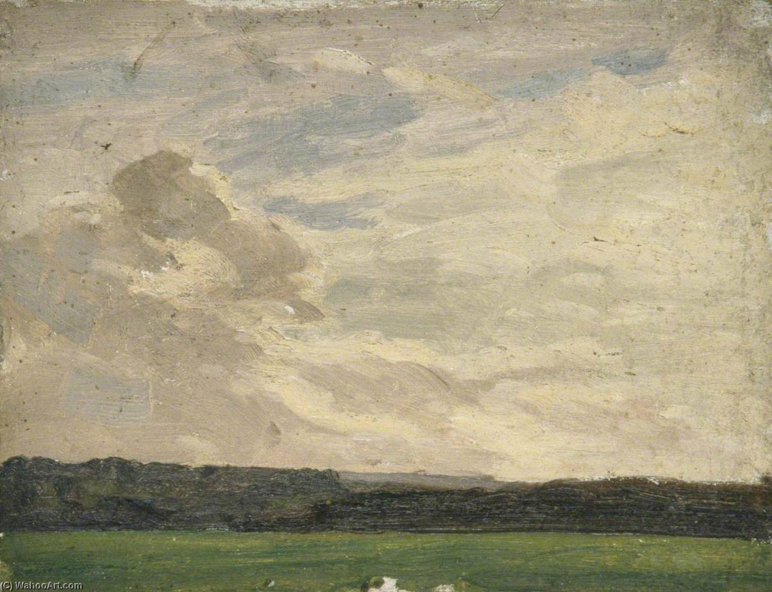 View across a Field, Oil by Gunning King