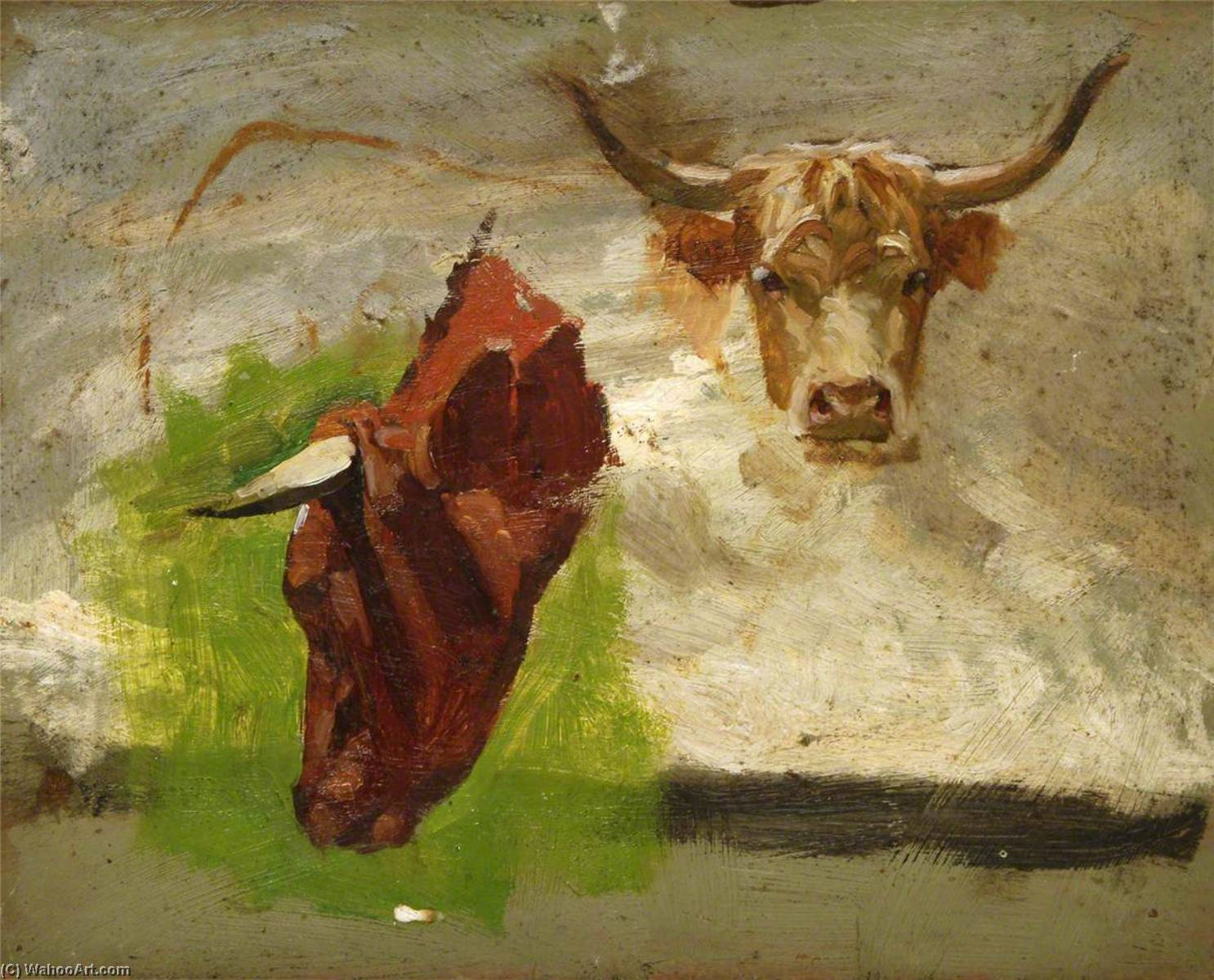 Cattle Heads by Gunning King | Painting Copy | WahooArt.com