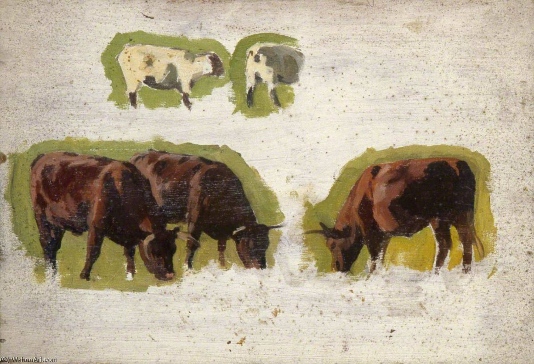 Cows and Sheep by Gunning King | Art Reproduction | WahooArt.com