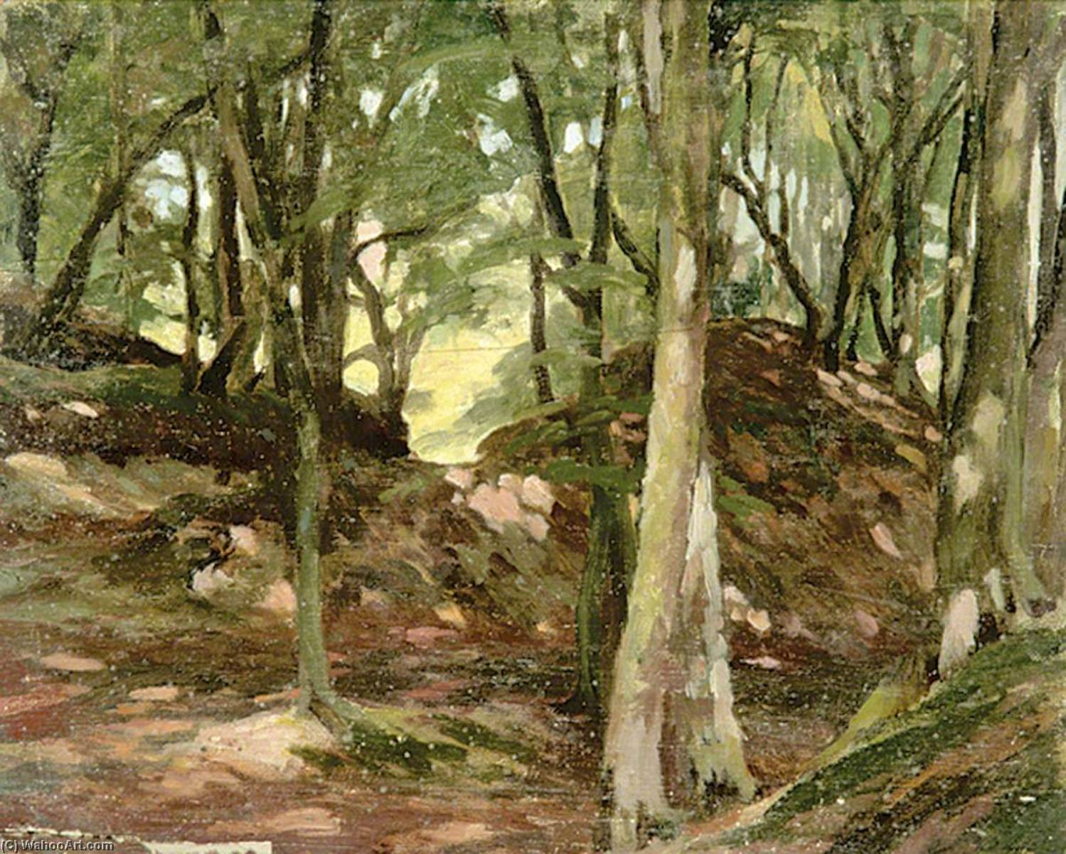 Wooded Scene by Gunning King | Museum Quality Reproductions | WahooArt.com