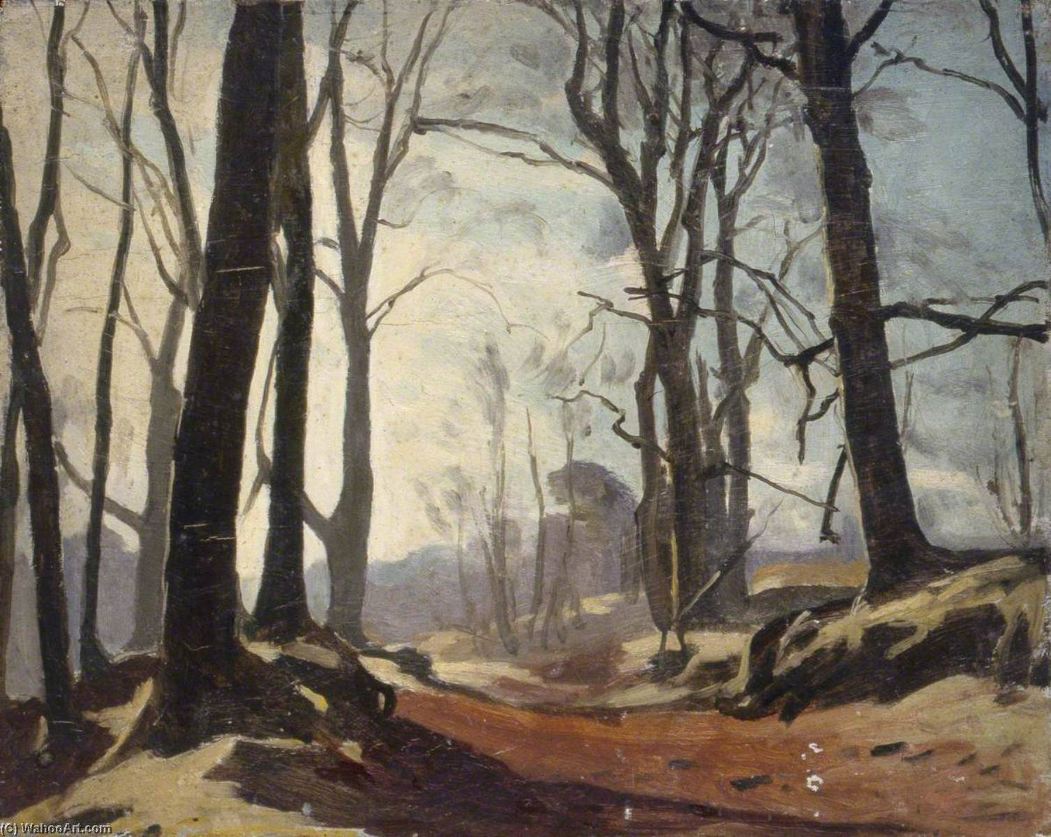 Woods, Oil by Gunning King