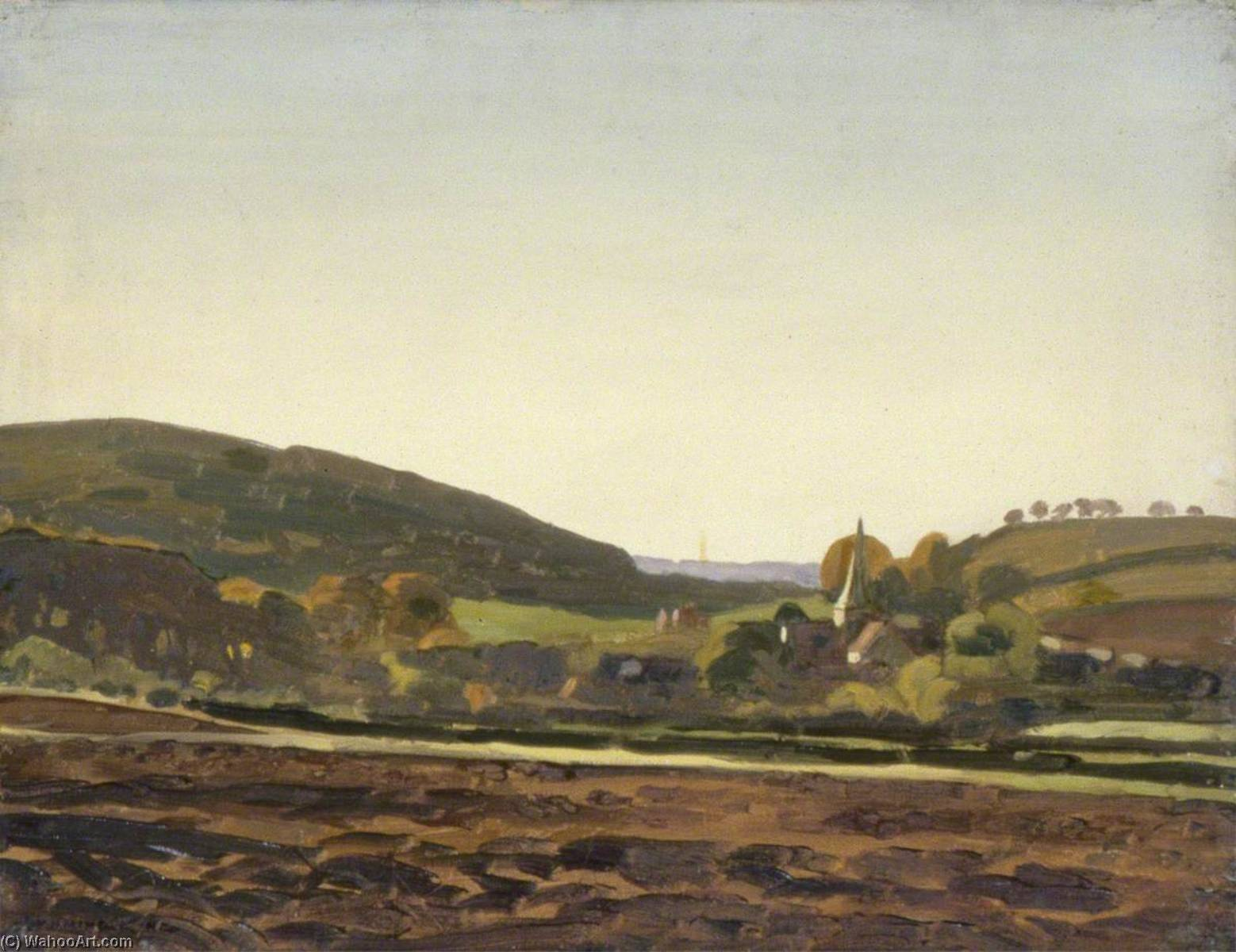 Harting, West Sussex, Oil On Canvas by Gunning King