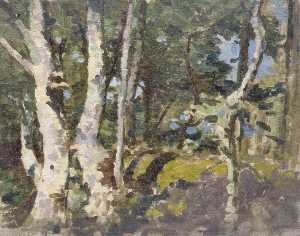 Gunning King - Landscape with Silver Birches