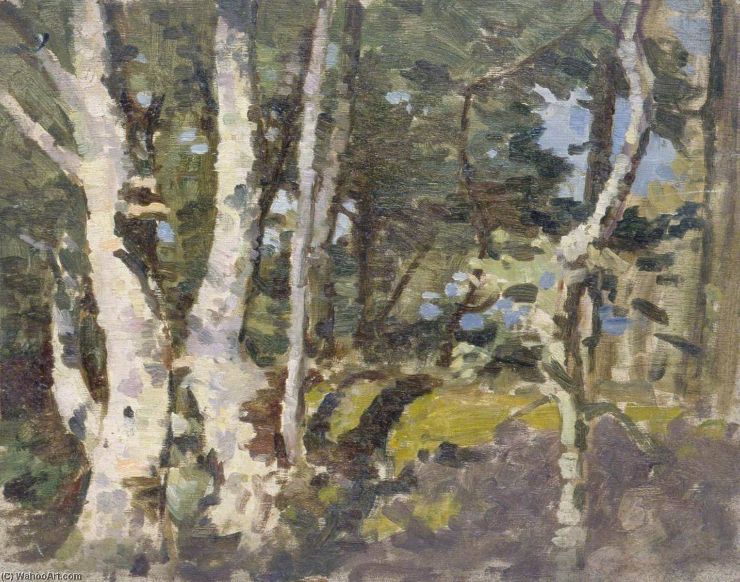Landscape with Silver Birches by Gunning King | Art Reproduction | WahooArt.com