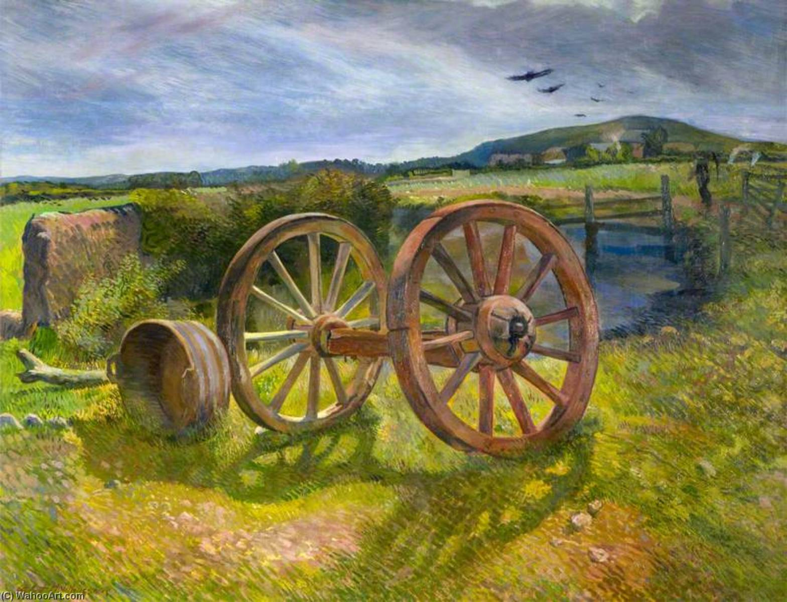 Buy Museum Art Reproductions | Wheels, Maes Gwyn Farm, 1934 by Albert Anthony Houthuesen | WahooArt.com