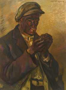 Albert Anthony Houthuesen - Miner Smoking a Pipe