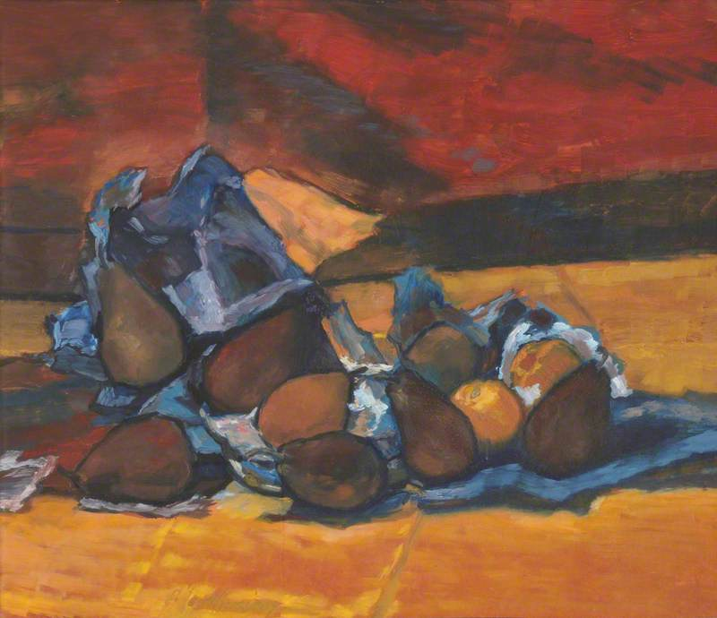 Still Life of Pears by Albert Anthony Houthuesen | Reproductions Albert Anthony Houthuesen | WahooArt.com
