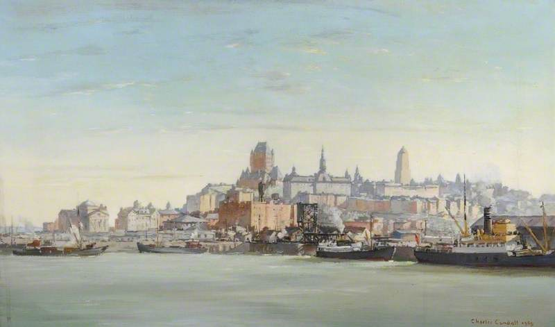Quebec, Canada, Oil On Canvas by Charles Ernest Cundall (order Fine Art oil painting Charles Ernest Cundall)