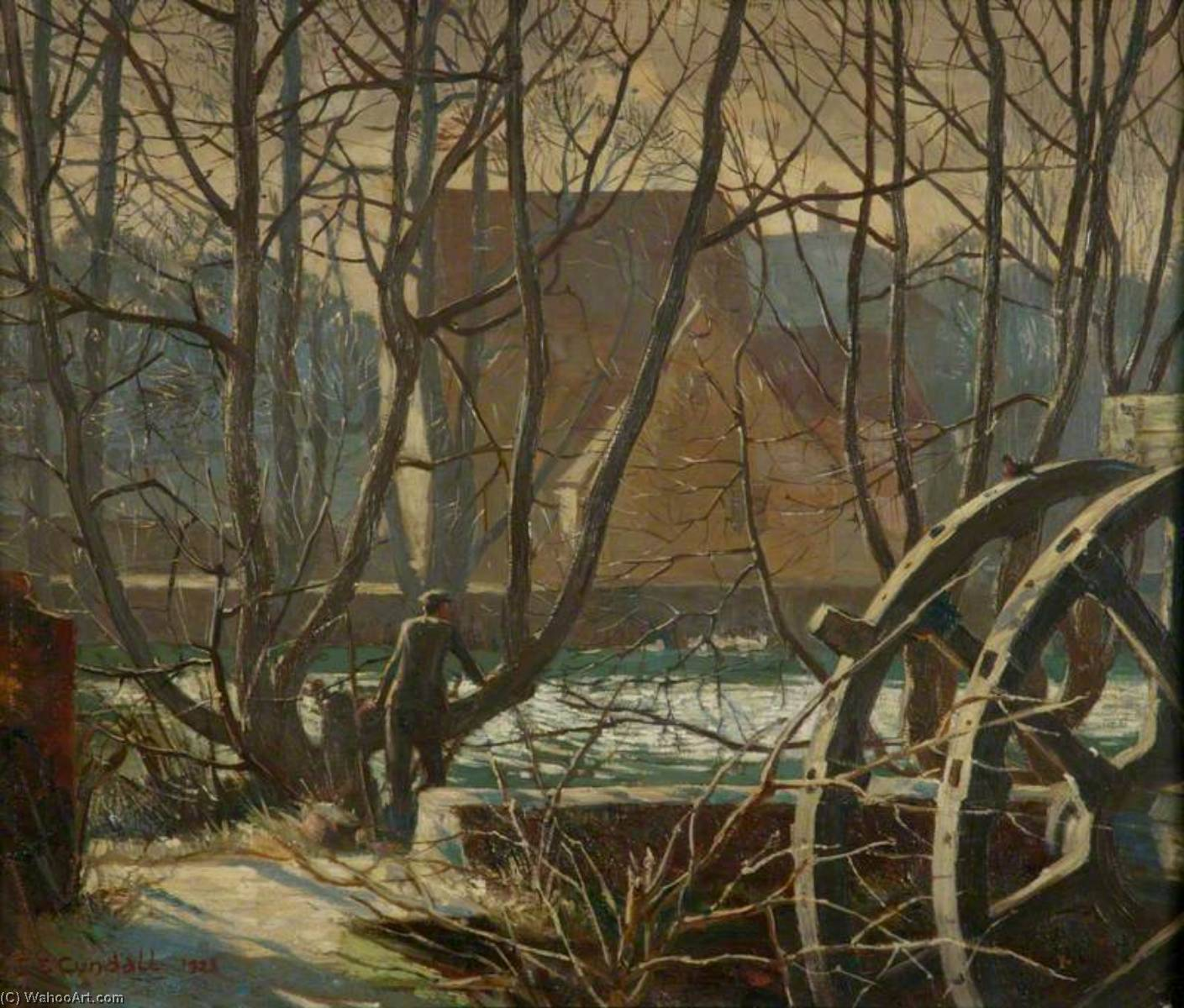 Temeside, Ludlow, Oil On Panel by Charles Ernest Cundall