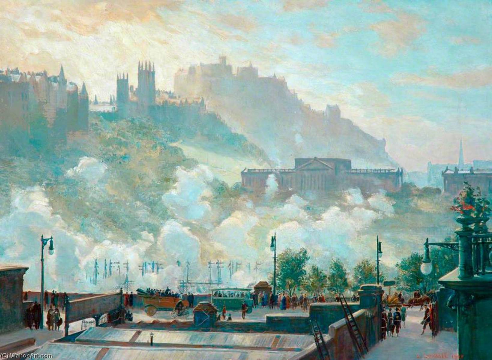 Edinburgh, Oil On Canvas by Charles Ernest Cundall