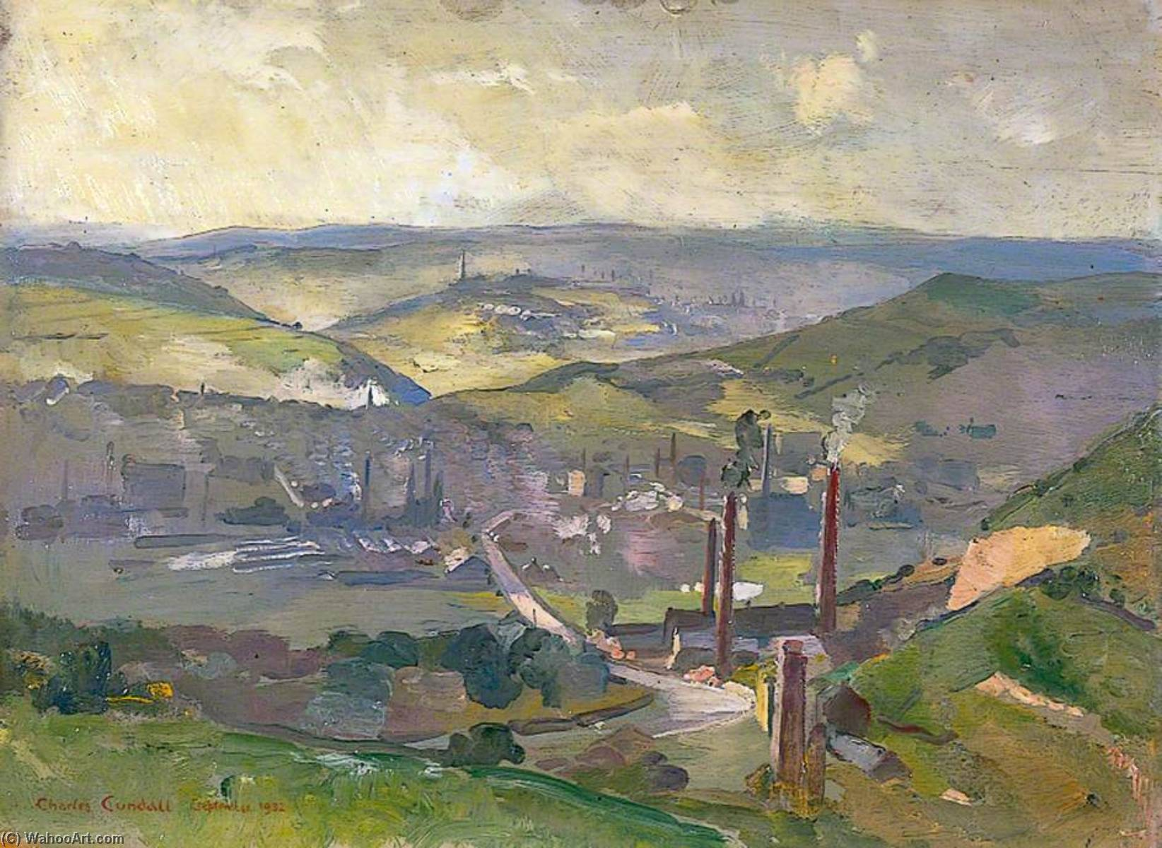 Industrial Landscape, 1932 by Charles Ernest Cundall | Museum Quality Reproductions | WahooArt.com