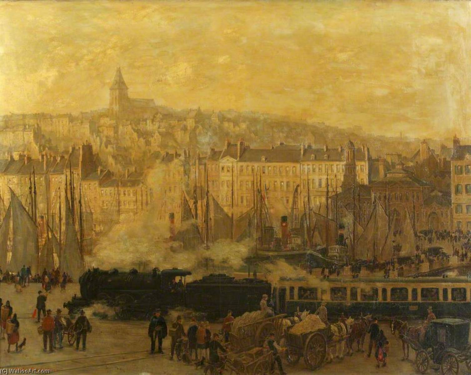 The Boulogne Express, Oil On Canvas by Charles Ernest Cundall